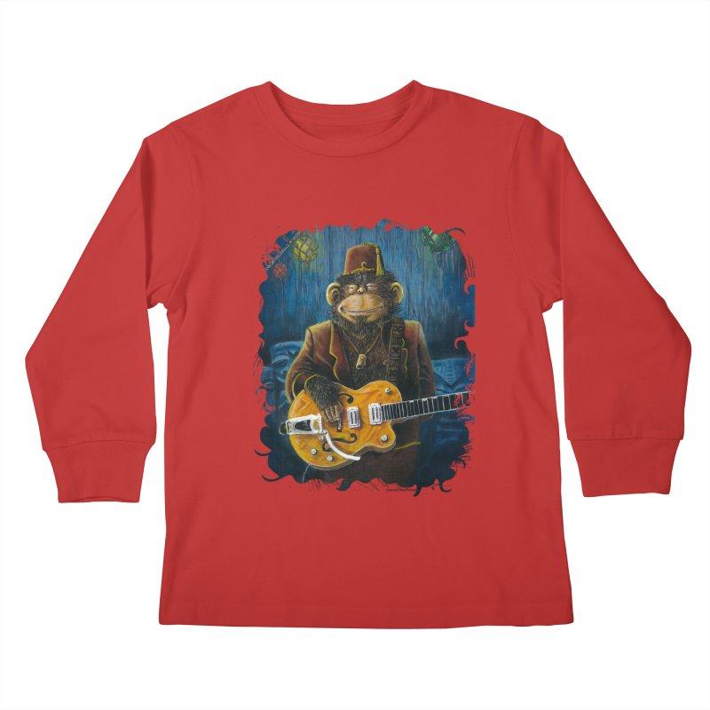 Dusty's Gig Kids Longsleeve T-Shirt by Zerostreet's Artist Shop