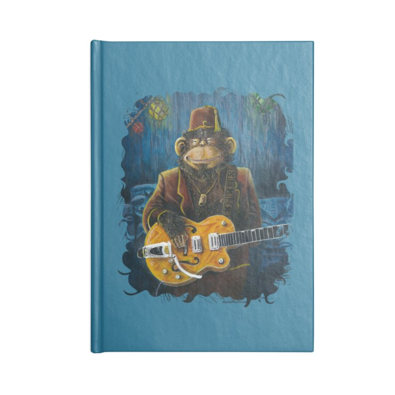 Dusty's Gig Accessories Lined Journal Notebook by Zero Street's Artist Shop