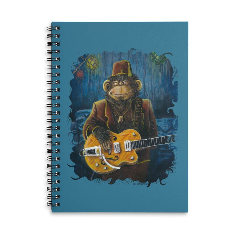 Dusty's Gig Accessories Lined Spiral Notebook by Zero Street's Artist Shop