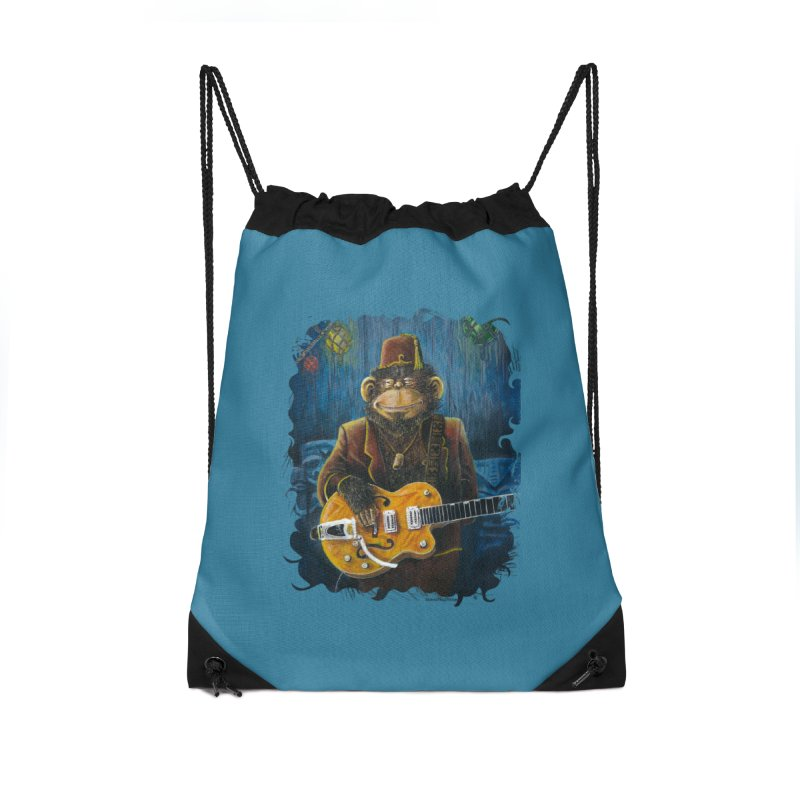 Dusty's Gig Accessories Drawstring Bag Bag by Zero Street's Artist Shop