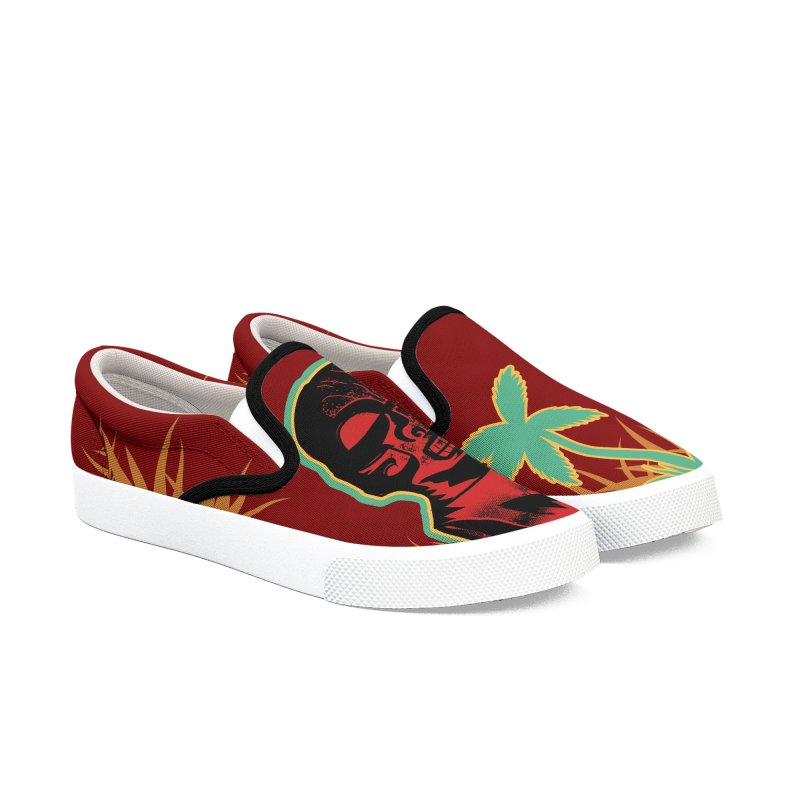 Marquesan #4 Women's Slip-On Shoes by Zerostreet's Artist Shop