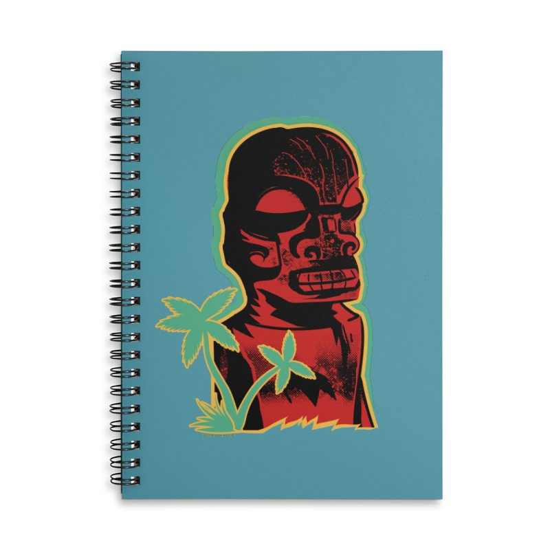 Marquesan #4 Accessories Lined Spiral Notebook by Zerostreet's Artist Shop