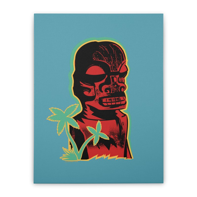 Marquesan #4 Home Stretched Canvas by Zerostreet's Artist Shop
