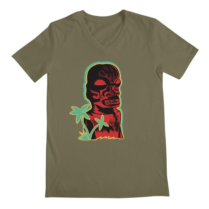 Marquesan #4 Men's Regular V-Neck by Zerostreet's Artist Shop