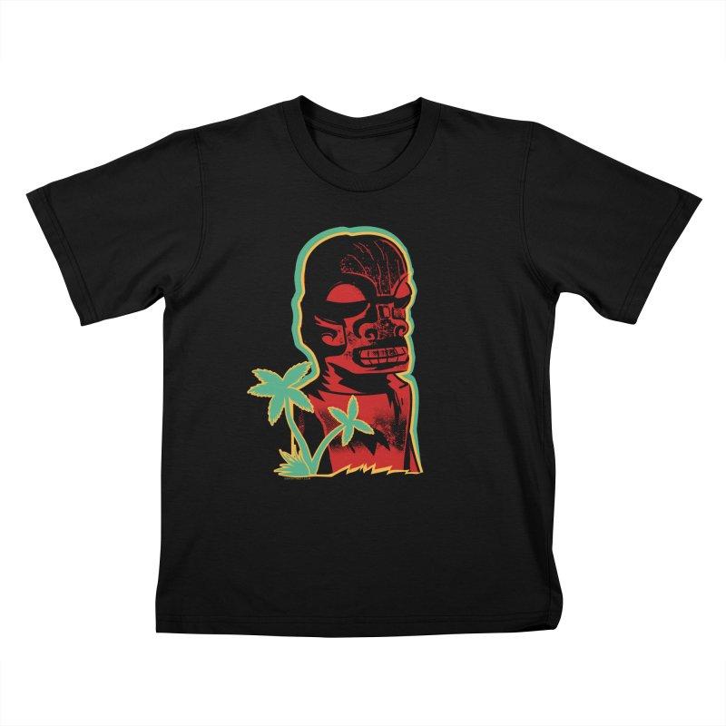Marquesan #4 Kids T-Shirt by Zero Street's Artist Shop