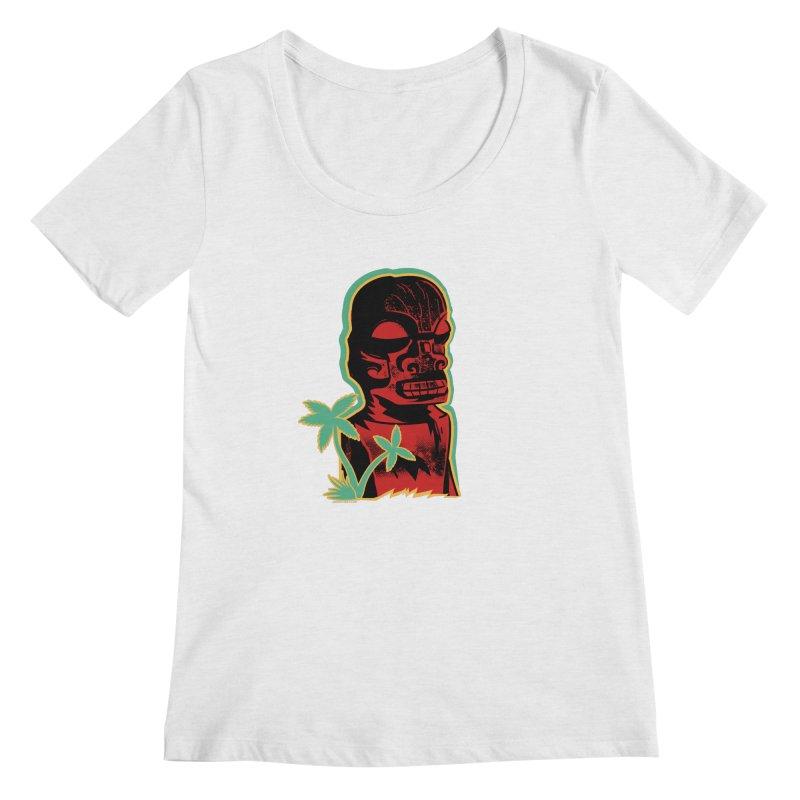 Marquesan #4 Women's Regular Scoop Neck by Zerostreet's Artist Shop