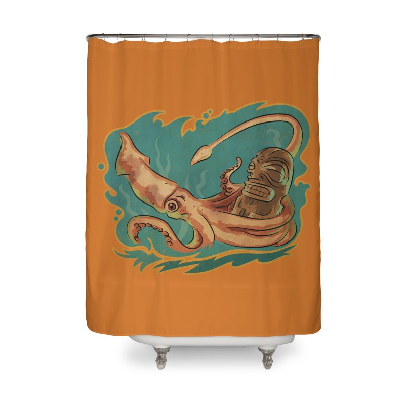Squid & Tiki Home Shower Curtain by Zerostreet's Artist Shop
