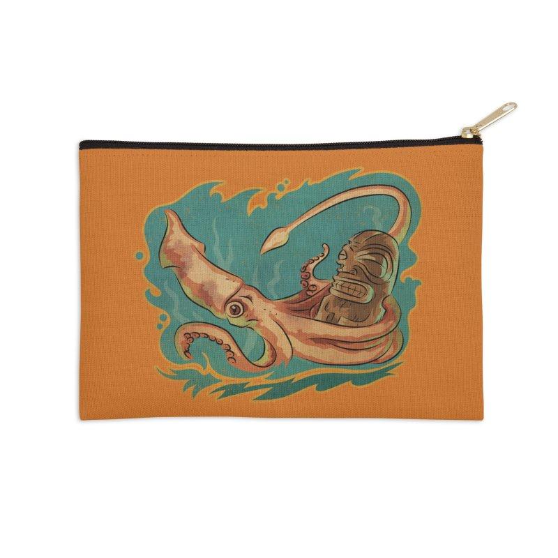 Squid & Tiki Accessories Zip Pouch by Zerostreet's Artist Shop