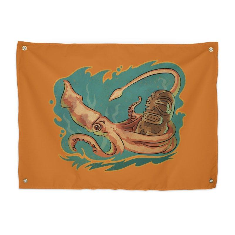 Squid & Tiki Home Tapestry by Zerostreet's Artist Shop