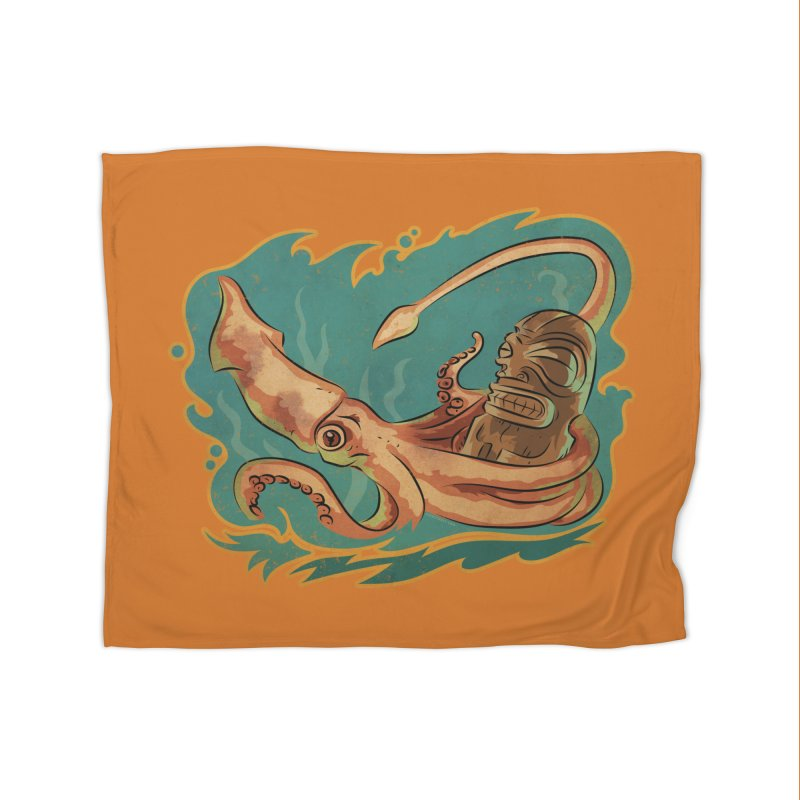 Squid & Tiki Home Blanket by Zerostreet's Artist Shop