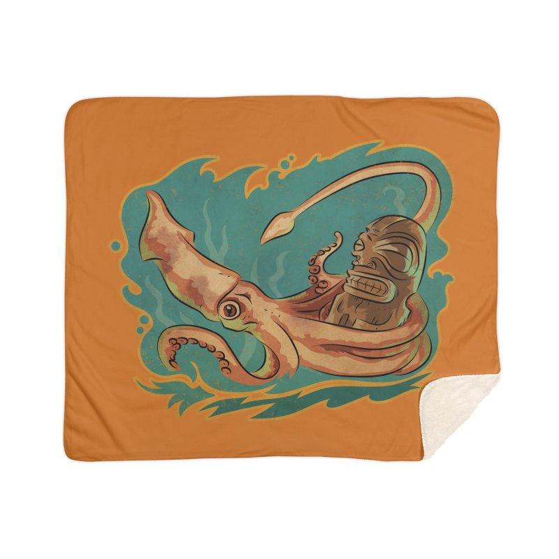 Squid & Tiki Home Sherpa Blanket Blanket by Zerostreet's Artist Shop