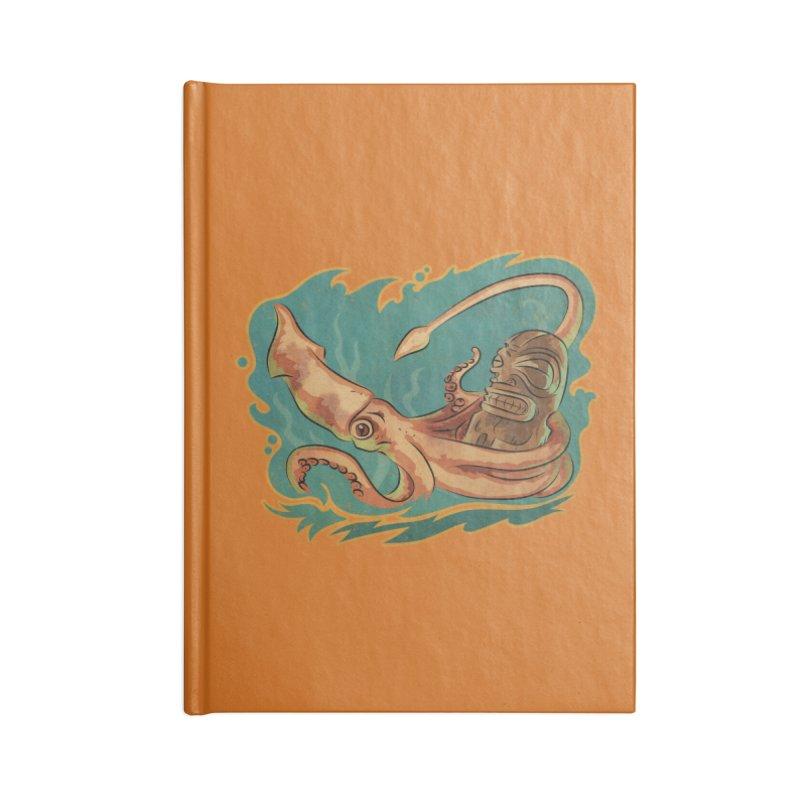 Squid & Tiki Accessories Blank Journal Notebook by Zero Street's Artist Shop