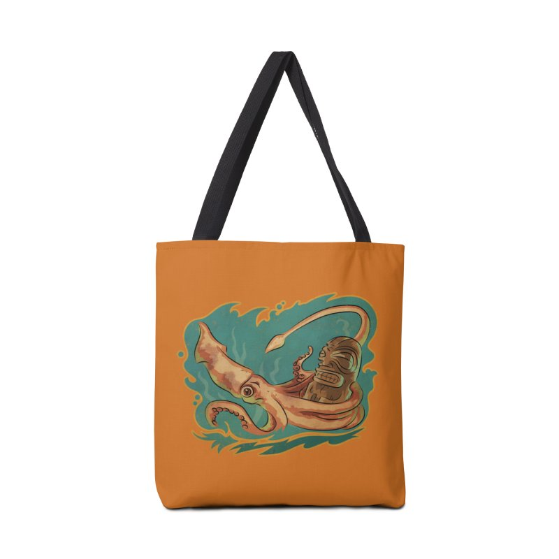 Squid & Tiki Accessories Tote Bag Bag by Zerostreet's Artist Shop