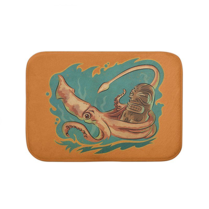 Squid & Tiki Home Bath Mat by Zerostreet's Artist Shop