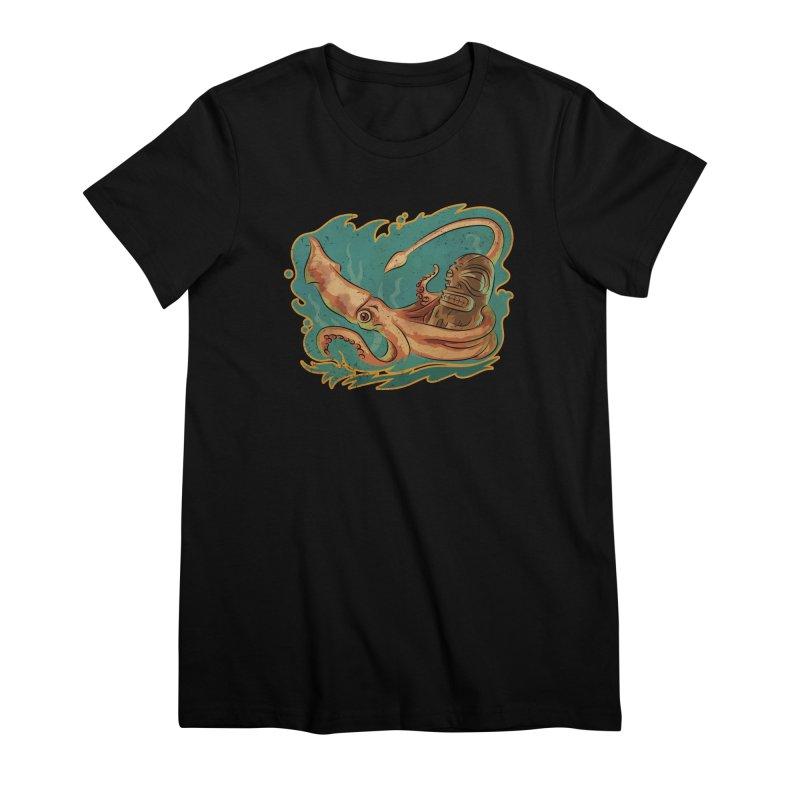 Squid & Tiki Women's Premium T-Shirt by Zerostreet's Artist Shop