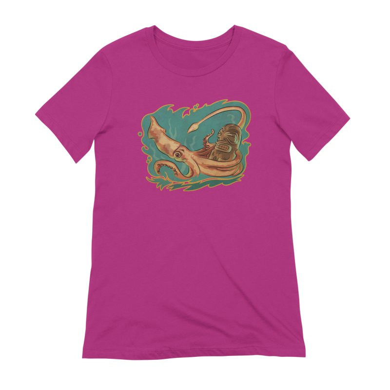 Squid & Tiki Women's Extra Soft T-Shirt by Zerostreet's Artist Shop