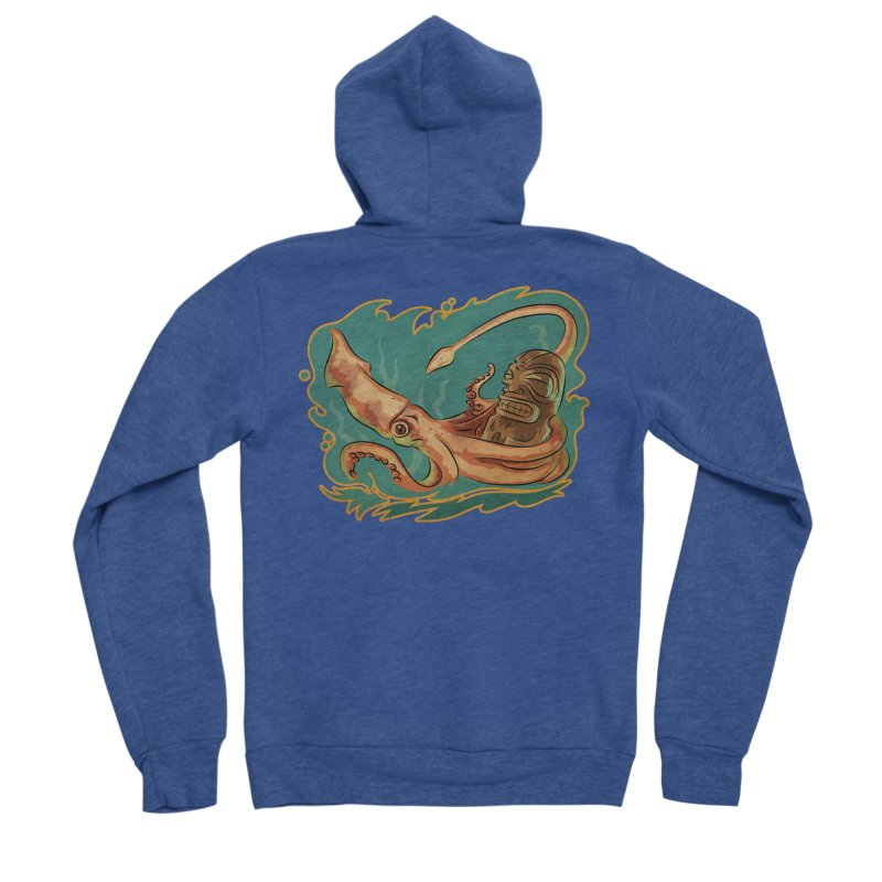 Squid & Tiki Men's Sponge Fleece Zip-Up Hoody by Zero Street's Artist Shop