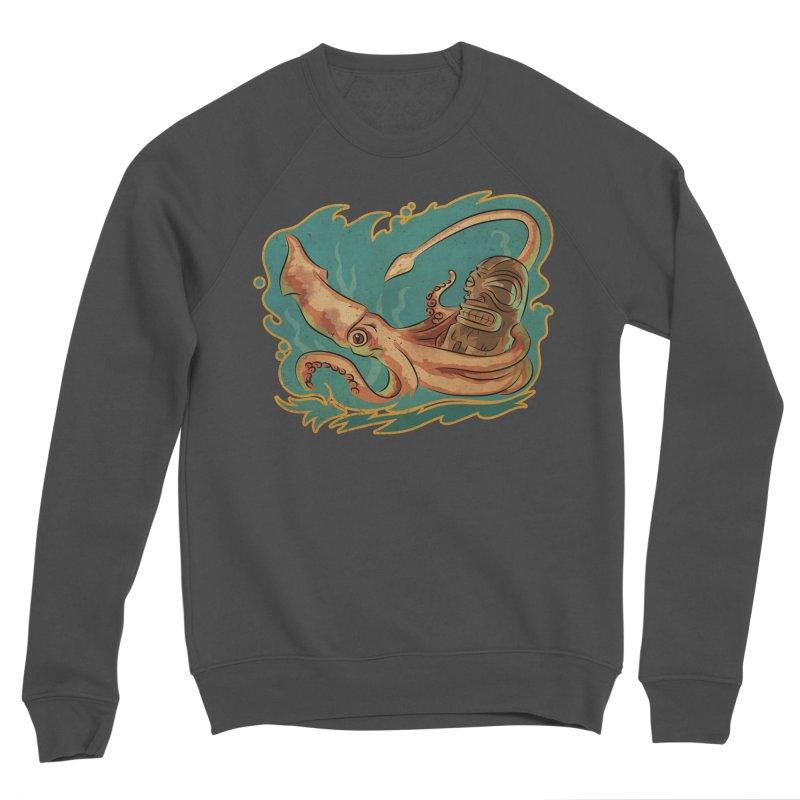 Squid & Tiki Men's Sponge Fleece Sweatshirt by Zero Street's Artist Shop