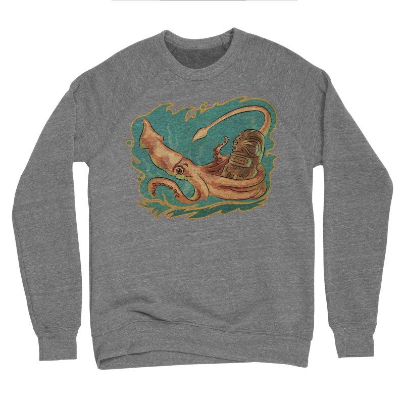 Squid & Tiki Men's Sponge Fleece Sweatshirt by Zerostreet's Artist Shop
