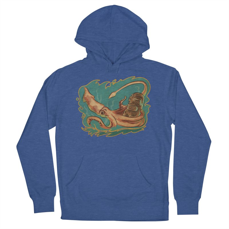 Squid & Tiki Women's French Terry Pullover Hoody by Zerostreet's Artist Shop