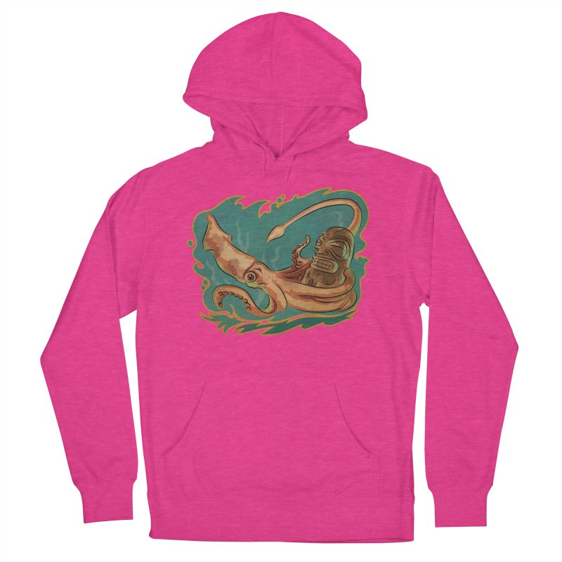 Squid & Tiki Men's French Terry Pullover Hoody by Zerostreet's Artist Shop