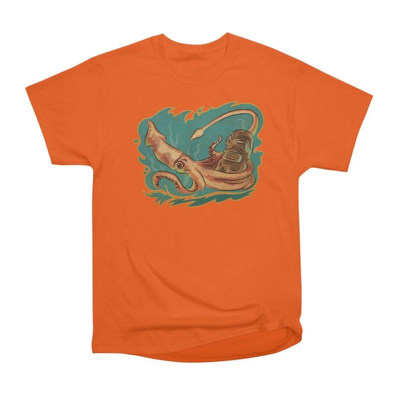 Squid & Tiki Women's Heavyweight Unisex T-Shirt by Zerostreet's Artist Shop