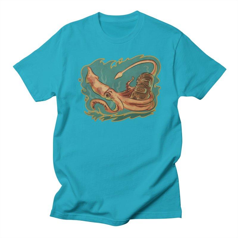Squid & Tiki Men's Regular T-Shirt by Zero Street's Artist Shop