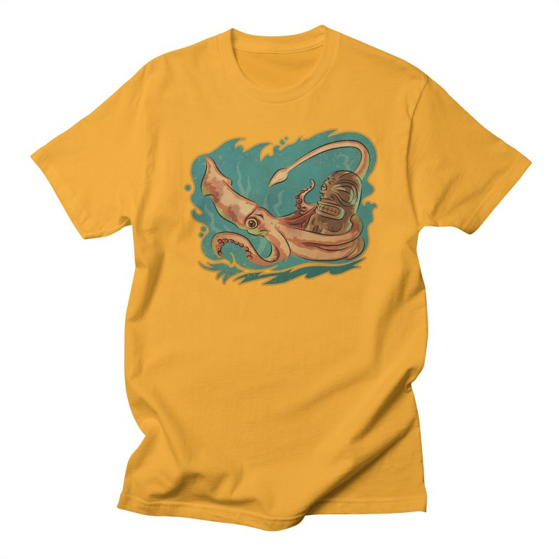 Squid & Tiki Women's Regular Unisex T-Shirt by Zero Street's Artist Shop