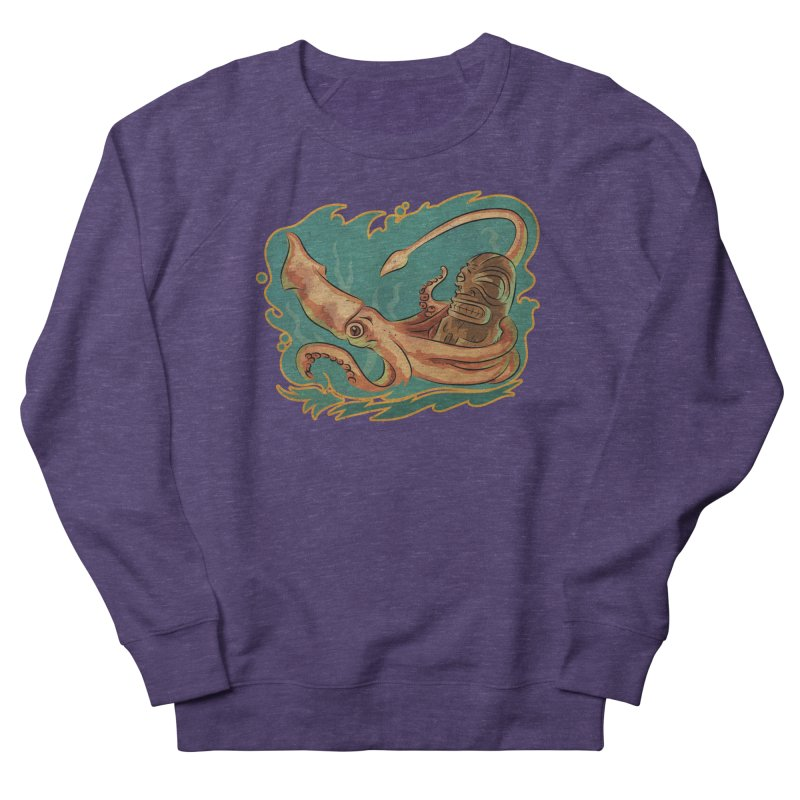 Squid & Tiki Men's French Terry Sweatshirt by Zerostreet's Artist Shop