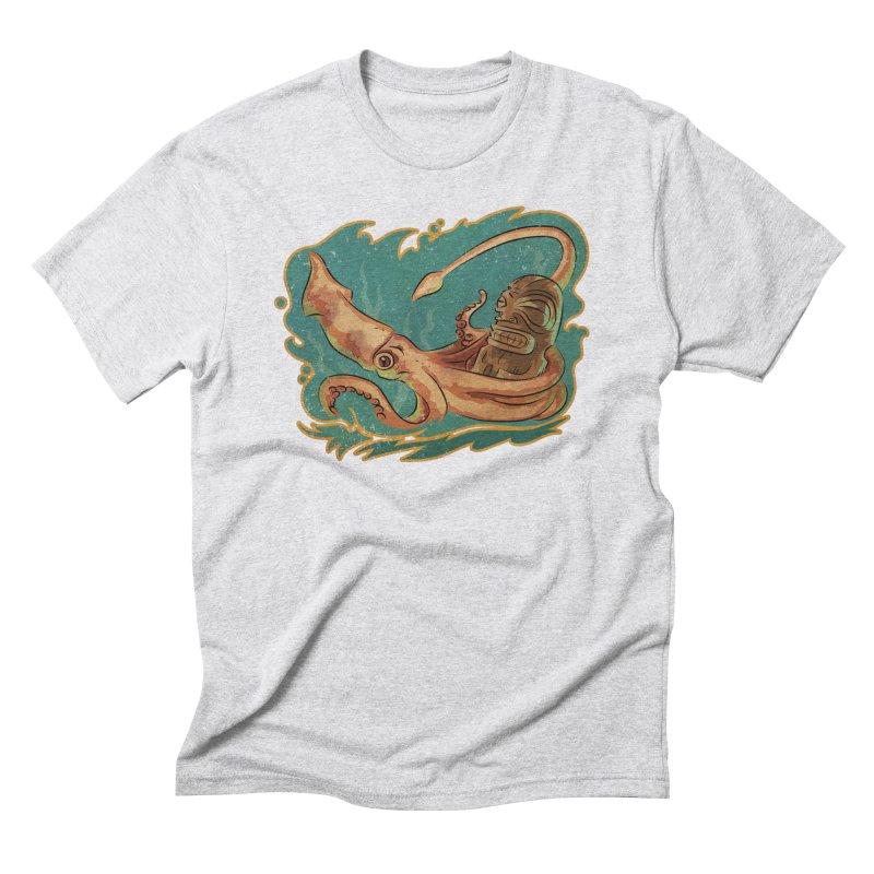 Squid & Tiki Men's Triblend T-Shirt by Zero Street's Artist Shop