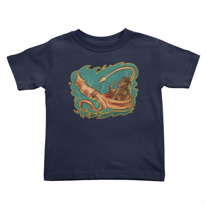 Squid & Tiki Kids Toddler T-Shirt by Zero Street's Artist Shop