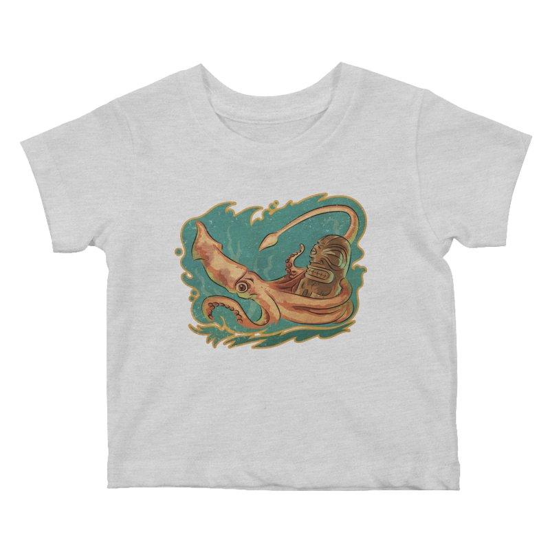 Squid & Tiki Kids Baby T-Shirt by Zero Street's Artist Shop
