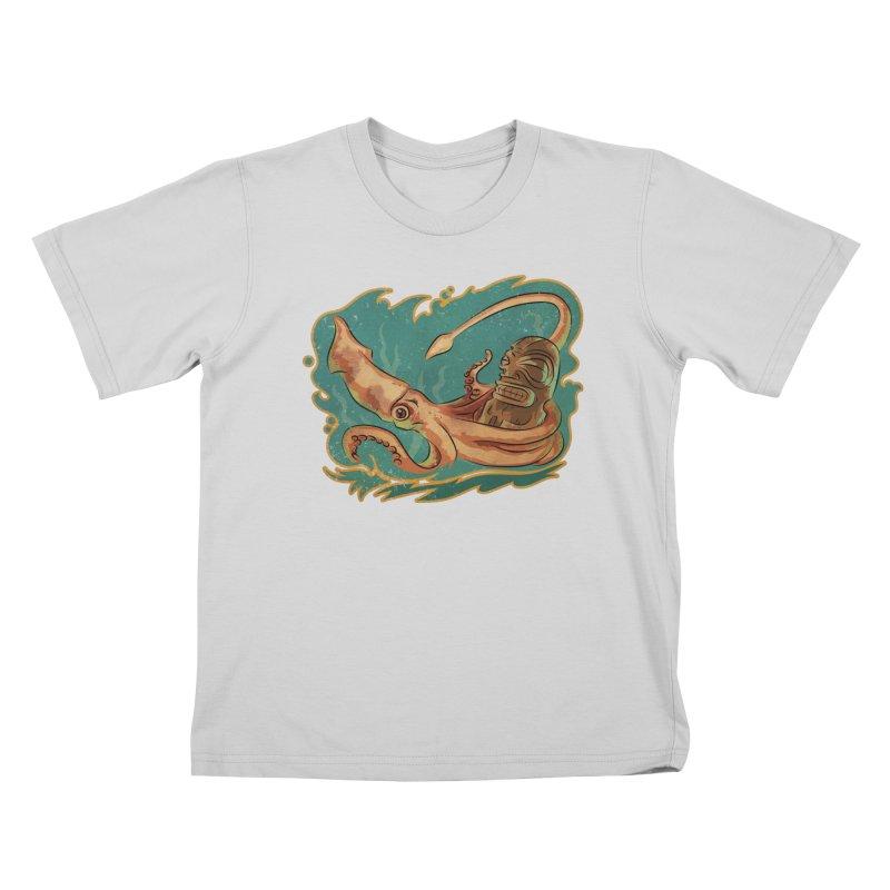 Squid & Tiki Kids T-Shirt by Zero Street's Artist Shop
