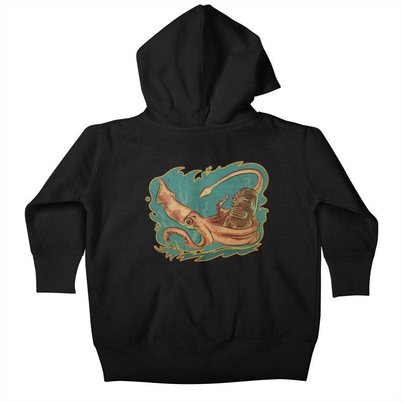 Squid & Tiki Kids Baby Zip-Up Hoody by Zerostreet's Artist Shop