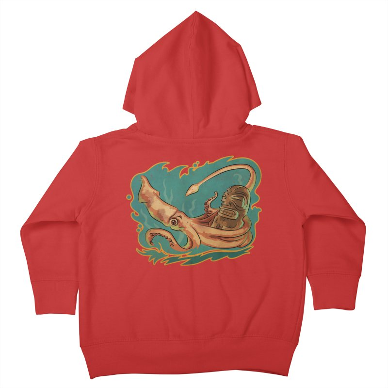 Squid & Tiki Kids Toddler Zip-Up Hoody by Zerostreet's Artist Shop
