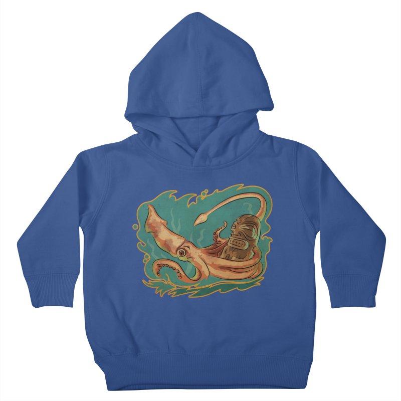Squid & Tiki Kids Toddler Pullover Hoody by Zerostreet's Artist Shop