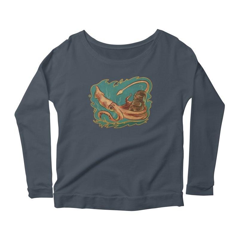 Squid & Tiki Women's Scoop Neck Longsleeve T-Shirt by Zero Street's Artist Shop