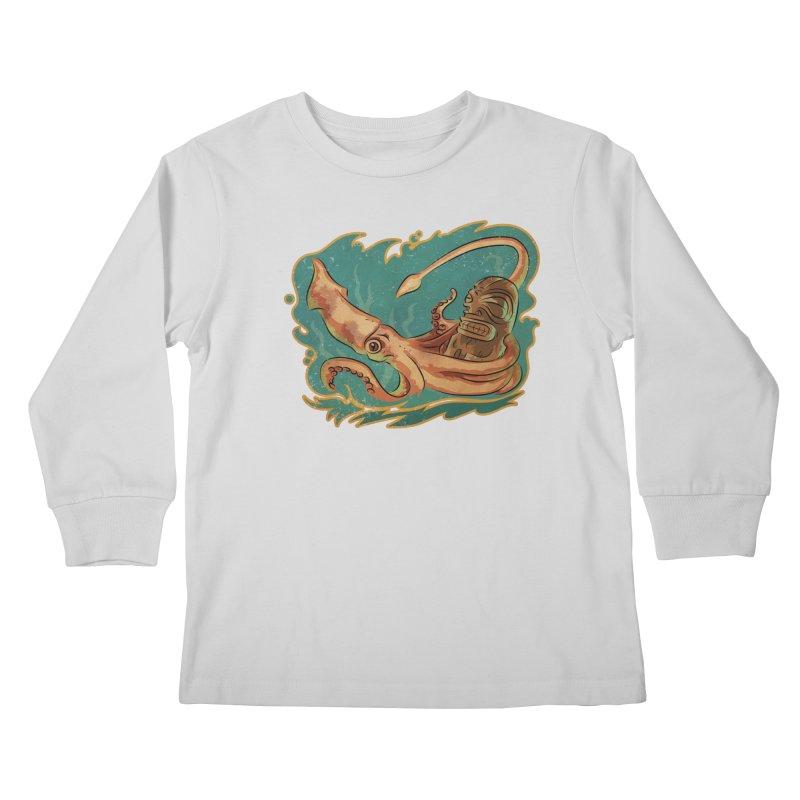 Squid & Tiki Kids Longsleeve T-Shirt by Zerostreet's Artist Shop