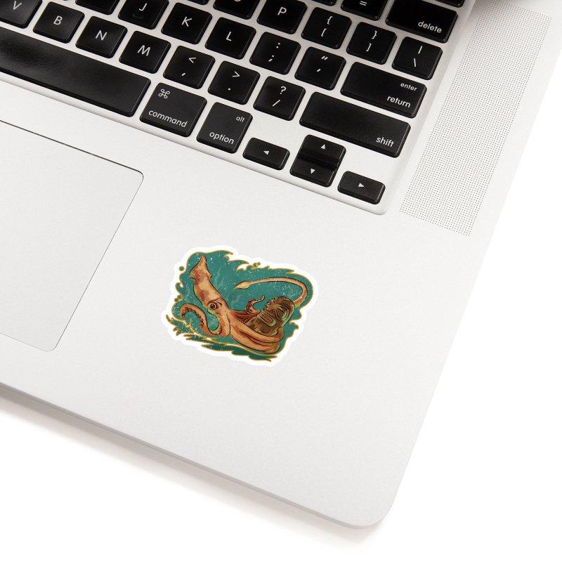 Squid & Tiki Accessories Sticker by Zerostreet's Artist Shop