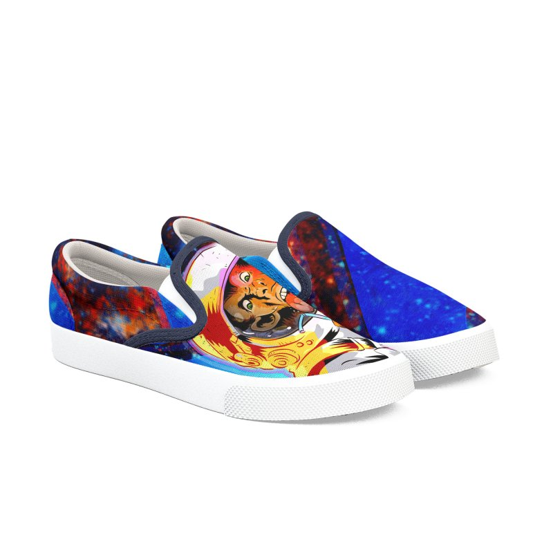 SPACE CHIMP Women's Slip-On Shoes by Zerostreet's Artist Shop