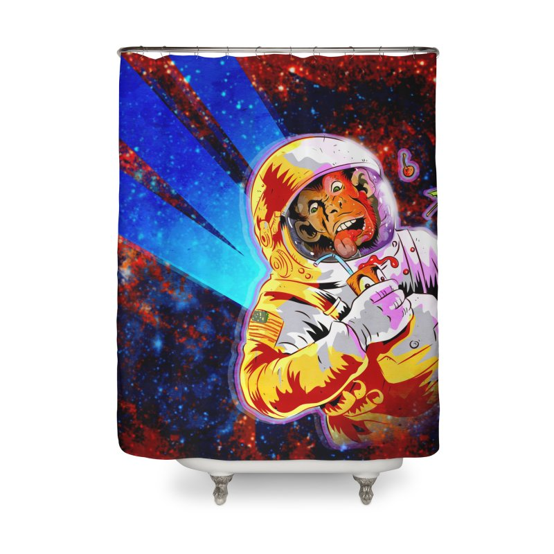 SPACE CHIMP Home Shower Curtain by Zerostreet's Artist Shop