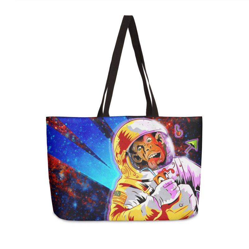 SPACE CHIMP Accessories Weekender Bag Bag by Zero Street's Artist Shop