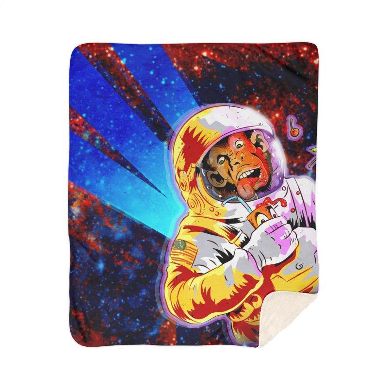 SPACE CHIMP Home Sherpa Blanket Blanket by Zerostreet's Artist Shop