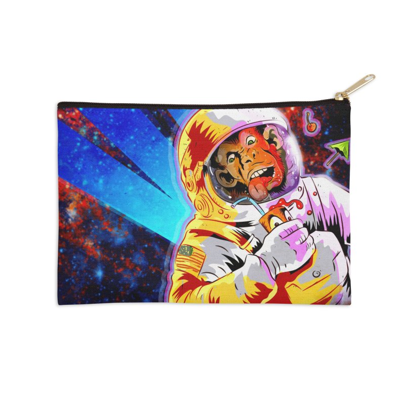 SPACE CHIMP Accessories Zip Pouch by Zerostreet's Artist Shop