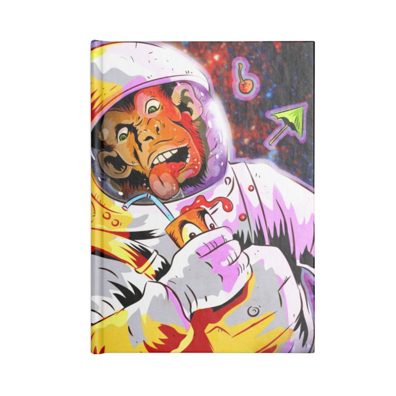 SPACE CHIMP Accessories Lined Journal Notebook by Zero Street's Artist Shop