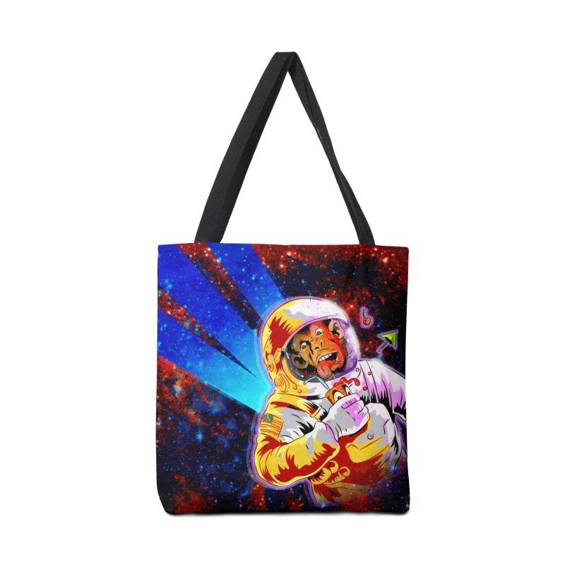 SPACE CHIMP Accessories Tote Bag Bag by Zerostreet's Artist Shop