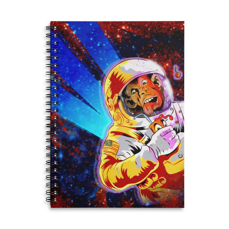 SPACE CHIMP Accessories Lined Spiral Notebook by Zerostreet's Artist Shop