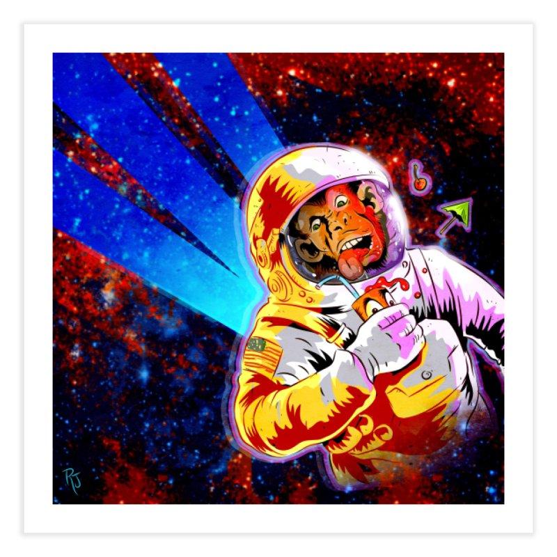 SPACE CHIMP Home Fine Art Print by Zerostreet's Artist Shop