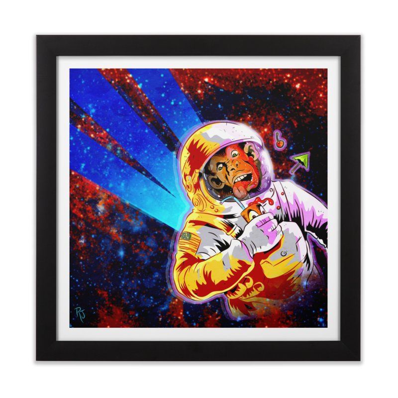 SPACE CHIMP Home Framed Fine Art Print by Zerostreet's Artist Shop