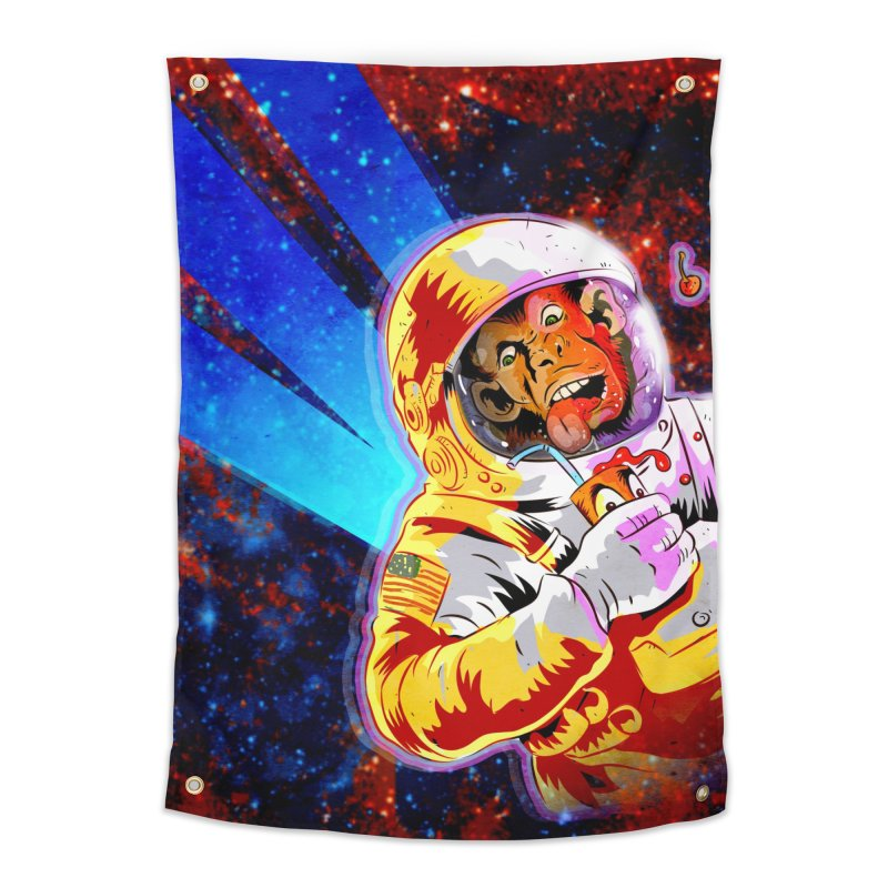 SPACE CHIMP Home Tapestry by Zerostreet's Artist Shop